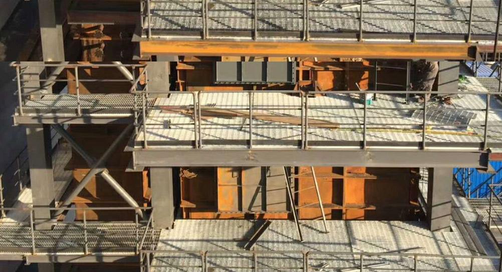 黑龙江平台钢格栅板案例